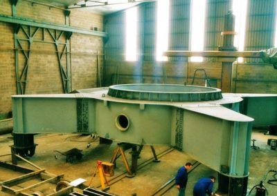 Bucket excavator structure