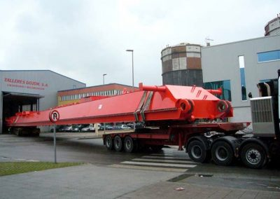Beams for container crane