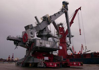 Descargadora de barcos